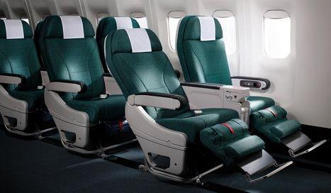 霸氣側漏!國泰公布a350高端經濟艙新座椅圖片