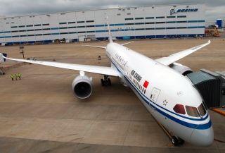 波音787 9飞机成功首航北京 成都航线高清图片