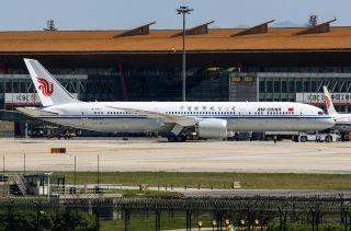 图:中国国航B-7877波音787-9客机。 (摄影:Chieh)