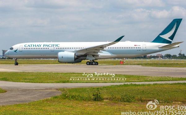国泰航空首架空客A350飞机29日抵达香港