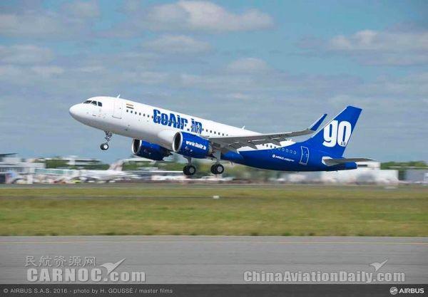 印度GoAir航空计划购买220架飞机扩充机队