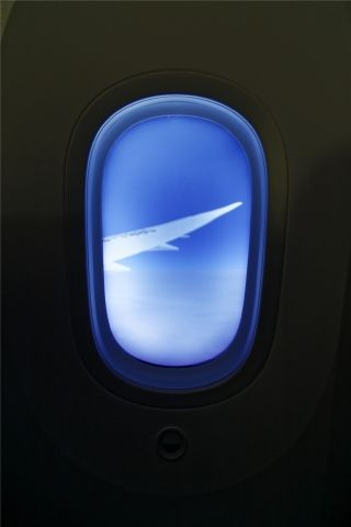 Cabin window of Hainan Airlines 787-9 Dreamliner