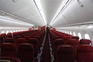 Economy class of Hainan Airlines 787-9 Dreamliner