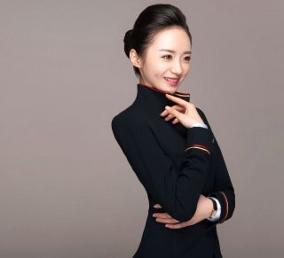Shenzhen Airlines girl Liu Miaomiao is voted as the one having world's most beautiful flight attendants in 2016.