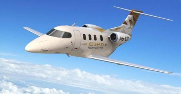 阿提哈德接收首架飞鸿100E飞机 用于飞行训练