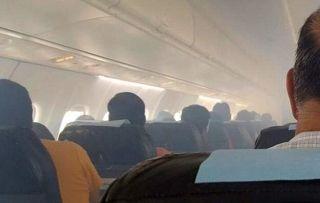 好险!发动机起火客舱烟雾缭绕 客机紧急返航