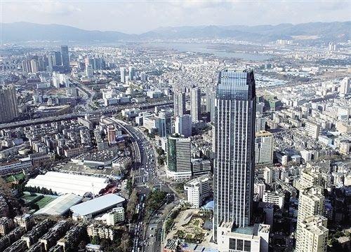 昆明最高的酒店可起降直升机 已开通空中旅游