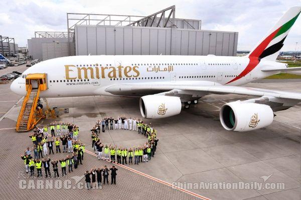 膜拜!阿联酋航空接收第80架A380客机