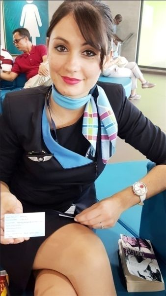 """相信你们已经知道了深航空姐刘苗苗被评为""""世界十佳美丽空姐第1名"""""""