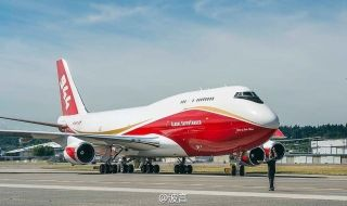 A Boeing 747-400 that once flew passengers for Japan Airlines is now going to work for a new Colorado Springs-based companies to fight wildfires. Photo by Boeing
