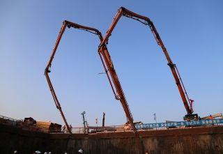 青岛新机场工程进展:开始实施地下室结构施工
