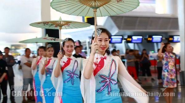 杭州风+国际范 长龙航空快闪庆祝国际客运首航