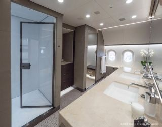 The inside of the world's first 787 VIP business jet/Kestrel Aviation Management