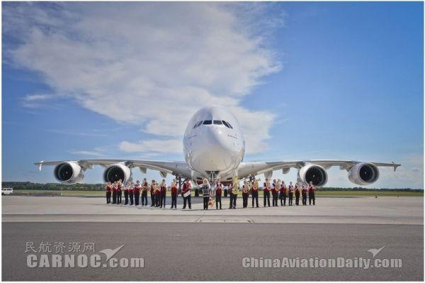 阿联酋航空将于10月起启用A380执飞广州航线