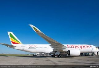Ethiopian Airlines' first Airbus A350 XBW