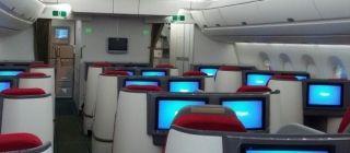 Interior of Ethiopian Airbus A350 XBW