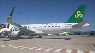 春秋航空接收第60架A320飞机 为全空客机队