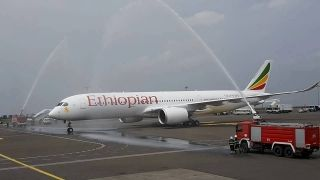 Ethiopian Airlines' first A350 aircraft, on lease from AerCap, arrived in Addis Ababa on June 29, 2016.