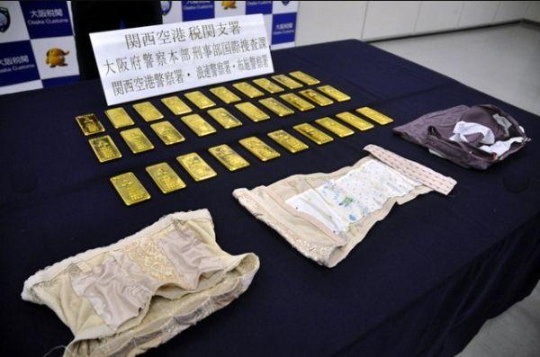 内衣藏30块金板走私 4名韩国女性在日本被捕