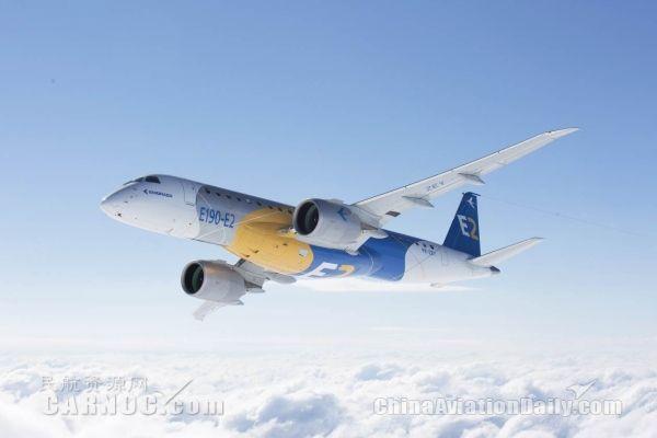 巴航工业E190-E2国际首秀 亮相范堡罗航展