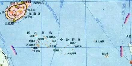 西沙与中沙群岛地图