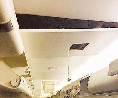 长荣客机重着陆机舱天花板崩落 飞行员停飞