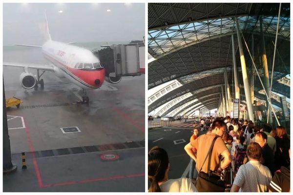额…今天的首都机场和双流机场…冰火两重天