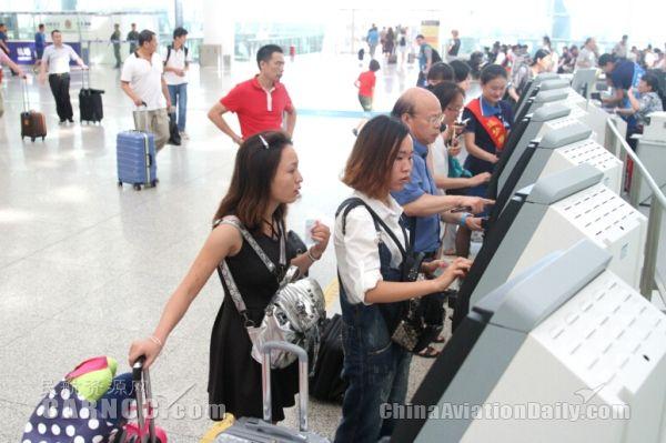 深圳机场自助值机设备办理手续不用再区分航空公司