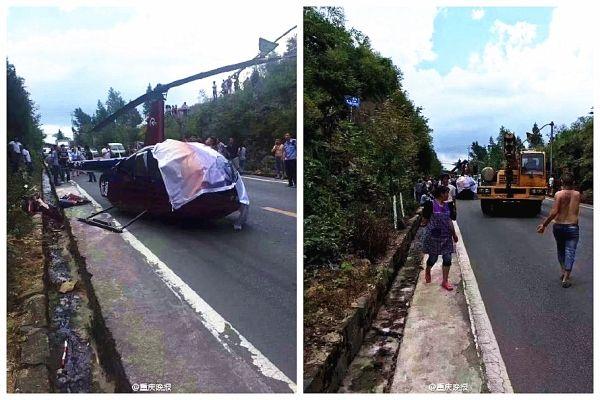 一直升机坠落飞行员受轻伤 事故原因在调查中