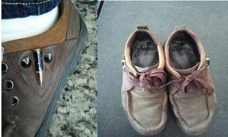 登机被拦竟因为一双鞋?他被要求脱鞋检查