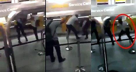 """外国""""熊""""乘客:因航班取消打翻两德国警察"""