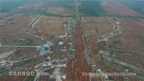 青岛新机场建设新进展:换乘中心开始地上施工