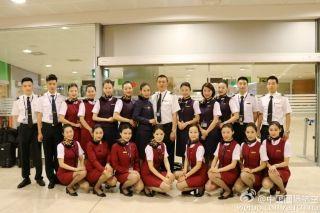 Air China flight crew. Photo by Air China