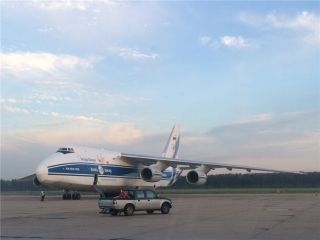 伏尔加第聂伯航空货机第10次飞抵沈阳机场
