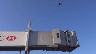 无人机怎样和机场融洽相处?拴起来!