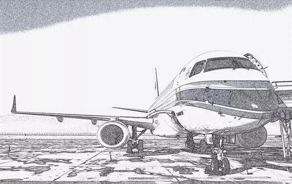 图片 飞机划过天际——那些手绘的蓝天_民航新闻_民航