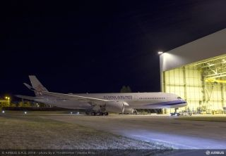 The first A350 XWB for China Airlines in Toulouse France, en route to ground and flight tests