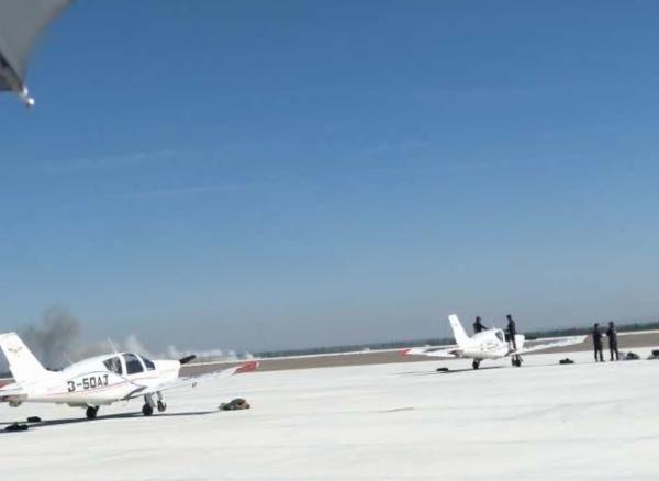 甘肃张掖一表演飞机坠毁全过程视频曝光!