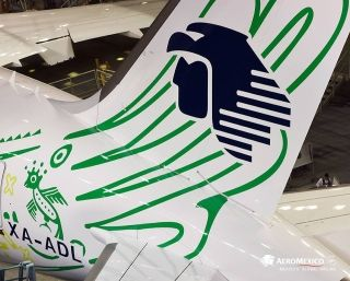 """Aeromexico unveiled its first Boeing 787-9 Dreamliner, named """"Quetzalcoatl"""", with a special livery. Photo by Aeromexico"""