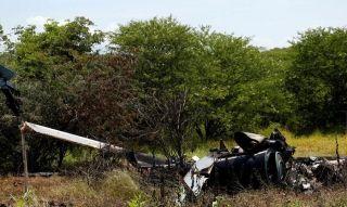 墨西哥一架警用直升机疑似遭黑帮击落