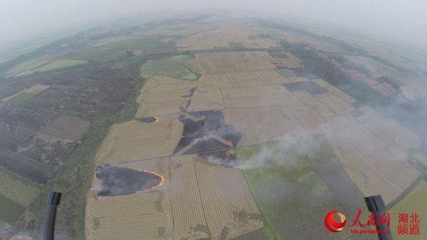 湖北无人机监控露天烧秸秆 枝江市负责人被约谈