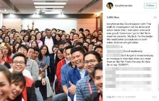 亚航空姐下跪道歉引不满 CEO:是我的错!