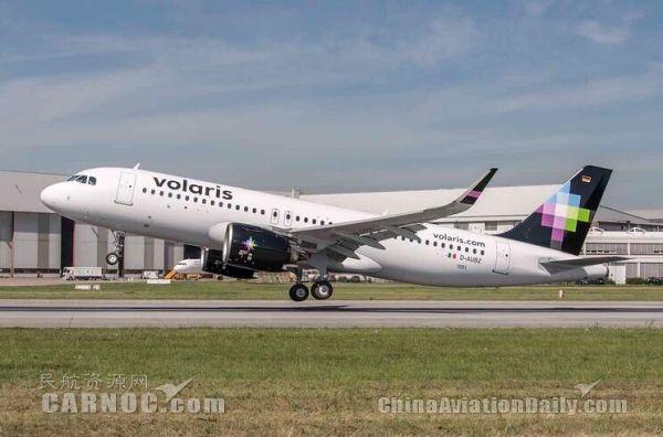 空客向Volaris航空交付北美首架A320neo飞机