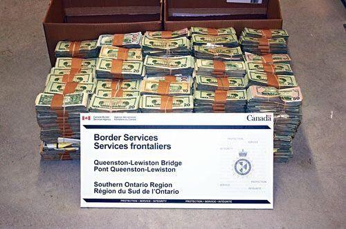 华人喜带现金入加拿大 海关3年没收1370万加币