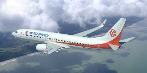 奥凯航空8月到港准点率位居中国内地第一