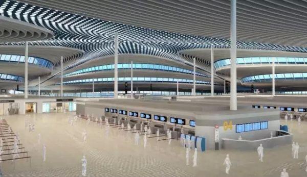青岛新机场建成后!三维内景演示