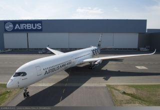 视频:第二架A350-1000碳纤维涂装喷涂记录