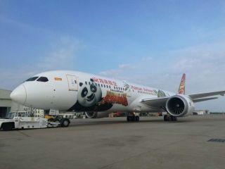 Hainan Airlines unveiled the first Kung Fu Panda livery on a Boeing 787-9 Dreamliner.