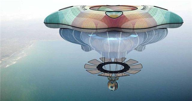 美轮美奂:这架飞机比空气还轻 移动似水母