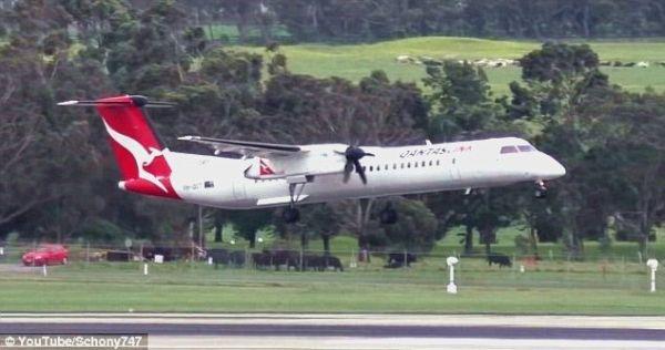 視頻:狂風中客機進近 距地僅幾米時復飛